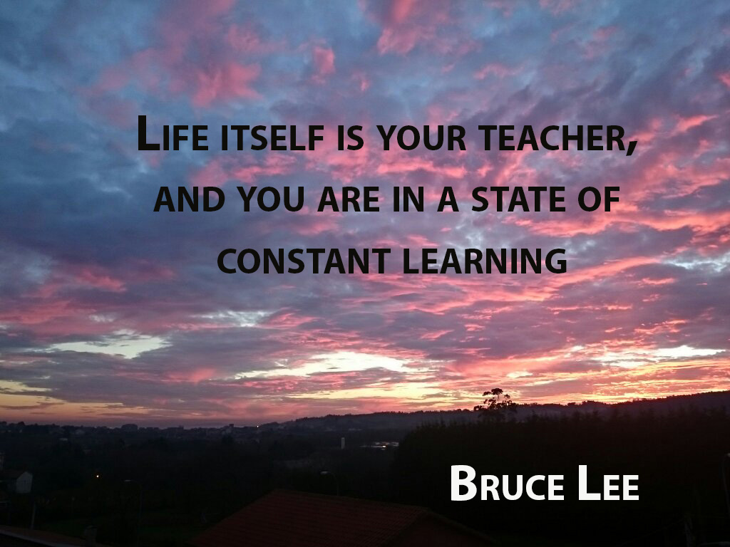Life itself is your teacher